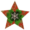 112a Red Snowflake Star