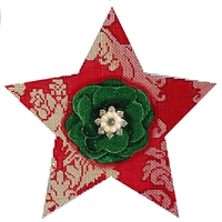 112c Red Damask Star