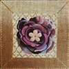 114e Purple Bling Flower
