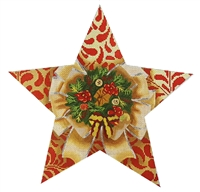 115b Wreath Tree Topper Star