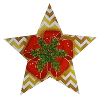 115c Red Bow Tree Topper Star