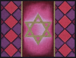 393b Pink and Purple Diamond Tallit Bag