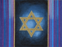 393c Blue and Violet Stripe Tallit Bag