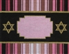 393f Pink and Chocolate Diamond Tallit Bag
