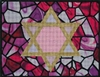 400b Pink Stained Glass Tallis Bag