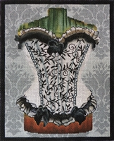 811a Black and White Corset