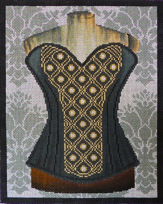 811c Black and Gold Corset