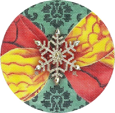 CO-20d Snowflake Christmas Ball w/ Jewel