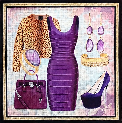 EN-1c Purple Leopard Ensemble