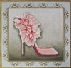 SH-3 Pink Feather pumps