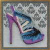 SH-6a Blue Feather Sandal