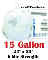 15 Gallon Garbage Bags Can Liners 15 GAL Trash Bags
