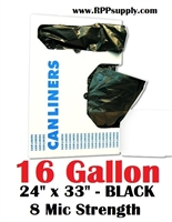 16 Gallon Garbage Bags Can Liners 16 GAL Trash Bags
