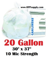 20 Gallon Garbage Bags Can Liners 20 GAL Trash Bags