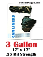 3 Gallon Garbage Bags Can Liners 3 GAL Trash Bags