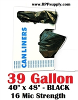 39 Gallon Garbage Bags Can Liners 39 GAL Trash Bags