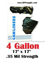 4 Gallon Garbage Bags Can Liners 4 GAL Trash Bags