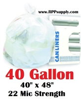 40 Gallon Garbage Bags Can Liners 40 GAL Trash Bags