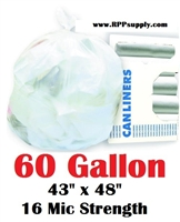 60 Gallon Garbage Bags Can Liners 60 GAL Trash Bags