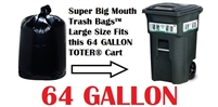 64 Gallon Trash Bags 64 GAL Garbage Bags Can Liners