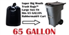 65 Gallon Trash Bags 65 GAL Garbage Bags Can Liners