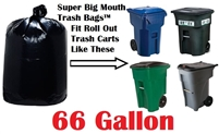 66 Gallon Trash Bags Super Big Mouth Trash Bags Large Industrial 66 GAL Garbage Bags Can Liners