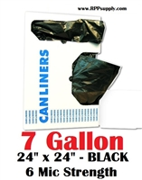7 Gallon Garbage Bags Can Liners 7 GAL Trash Bags BLACK