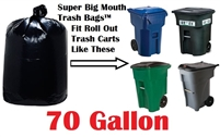 70 Gallon Trash Bags Super Big Mouth Trash Bags Large Industrial 70 GAL Garbage Bags Can Liners