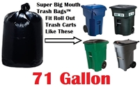 71 Gallon Trash Bags Super Big Mouth Trash Bags Large Industrial 71 GAL Garbage Bags Can Liners