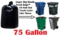 75 Gallon Trash Bags Super Big Mouth Trash Bags Large Industrial 75 GAL Garbage Bags Can Liners