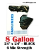 8 Gallon Garbage Bags Can Liners 8 GAL Trash Bags Black
