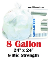 8 Gallon Garbage Bags Can Liners 8 GAL Trash Bags