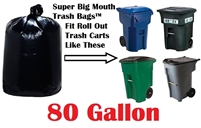 80 Gallon Trash Bags Super Big Mouth Trash Bags Large Industrial 80 GAL Garbage Bags Can Liners