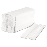 Economy C-Fold White Paper Towels Folded RPPsupply House Brand 2400ct