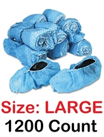 Disposable Shoe Covers Booties for Daycare, Hospital, Medical, Anti Skid Non Skid 1200 Count