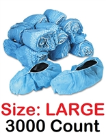 Disposable Shoe Covers Booties for Daycare, Hospital, Medical, Anti Skid Non Skid 3000 Count