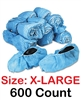 XL Disposable Shoe Covers Booties for Daycare, Hospital, Medical, Extra Large, Anti Skid Non Skid, X-Large  600 Count