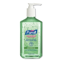 GOJ 3639-12 PURELL® Advanced Instant Hand Sanitizer with Aloe Vera 12 x 12oz Pump Bottles Gojo
