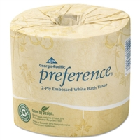 GPC 182-80/01 Georgia Pacific® Professional Preference® 2-Ply Bathroom Toilet Tissue Paper 80 Rolls x 550 Sheets Each Roll