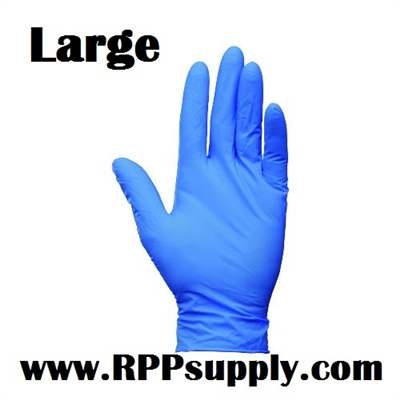 Disposable Blue Nitrile Powder Free Daycare Gloves 10 x 100ct LARGE