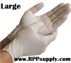 Disposable Powder Free Latex Daycare Gloves 10 x 100ct LARGE