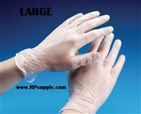 Disposable Powder Free Vinyl Daycare Gloves 10 x 100ct LARGE