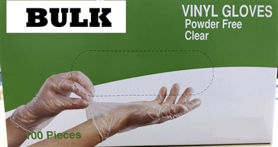 Bulk Discount Disposable Powder Free Vinyl Daycare Gloves LARGE