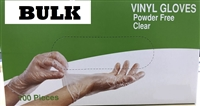 Bulk Discount Disposable Powder Free Vinyl Daycare Gloves 4 LARGE & 4 MEDIUM
