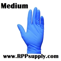 Disposable Blue Nitrile Powder Free Daycare Gloves 10 x 100ct MEDIUM