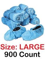 Realtor Open House & Estate Sale Shoe Covers Booties w/ Anti-Skid Protection - BULK 900 Count LARGE