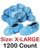 XL Realtor Open House & Estate Sale Extra Large Shoe Covers Booties w/ Anti-Skid Protection - Bulk 1200 Count X-LARGE