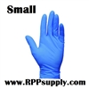 Disposable Blue Nitrile Powder Free Daycare Gloves 10 x 100ct SMALL