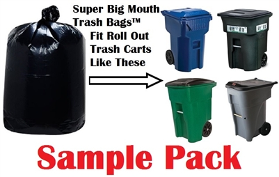 Super Big Mouth Trash Bags X-Large Industrial 64 65 95 96 GAL Garbage Bags XL Can Liners Extra Large