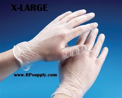 Disposable Powder Free Vinyl Daycare Gloves 10 x 100ct X-LARGE